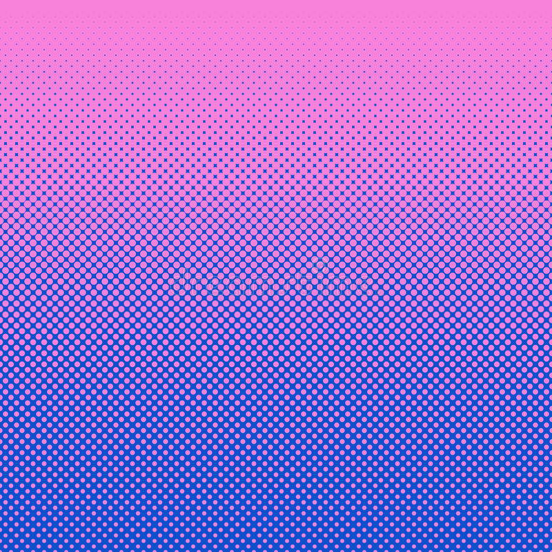 Abstract halftone dot pattern background. Pink and blue abstract halftone dot pattern background - vector graphic stock illustration