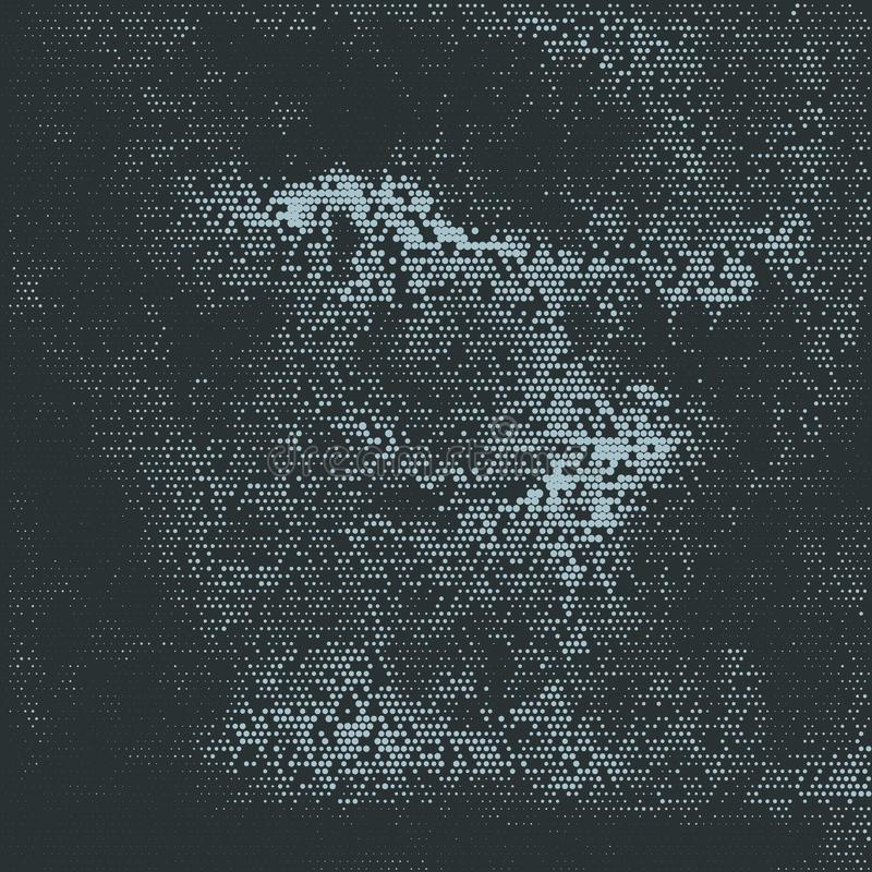 Abstract halftone dots background vector illustration