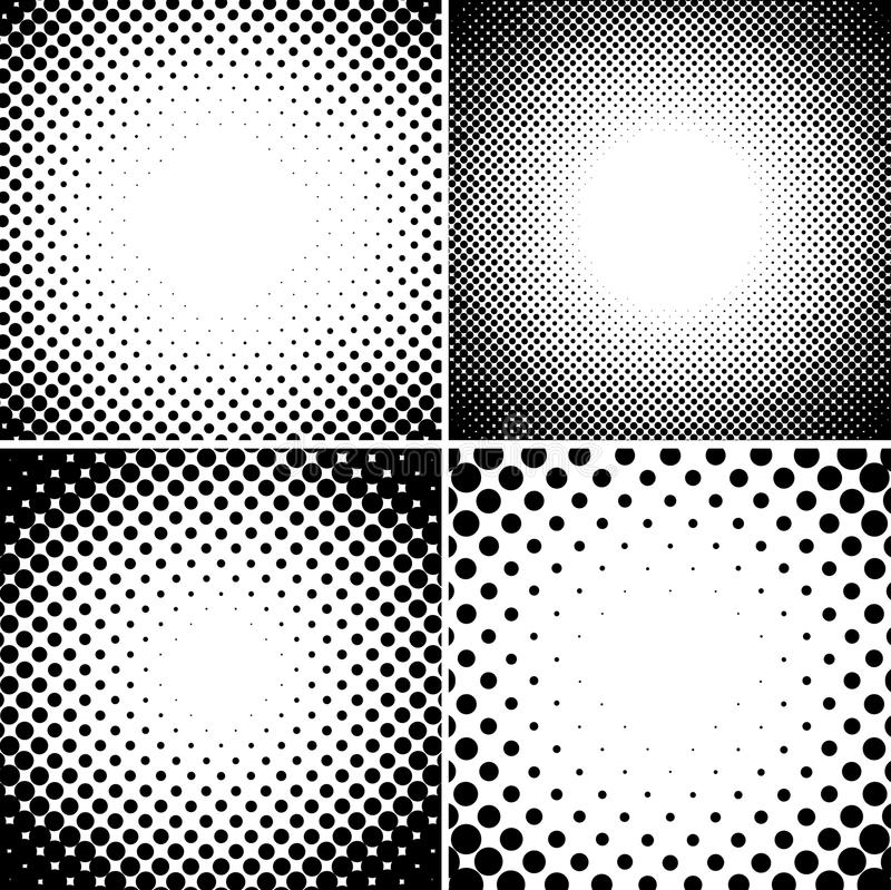 Abstract halftone dotted backgrounds set.  vector illustration