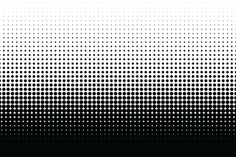 Abstract halftone dotted monochrome texture. Vector background. Modern simple backdrop for posters, sites, business royalty free illustration