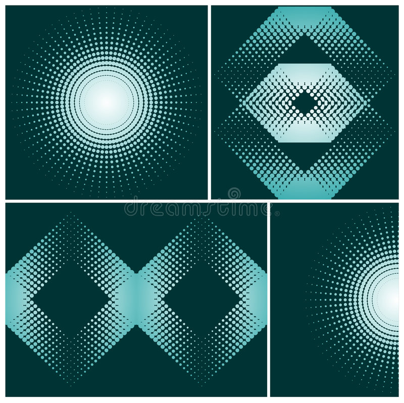 Abstract halftone elements royalty free illustration