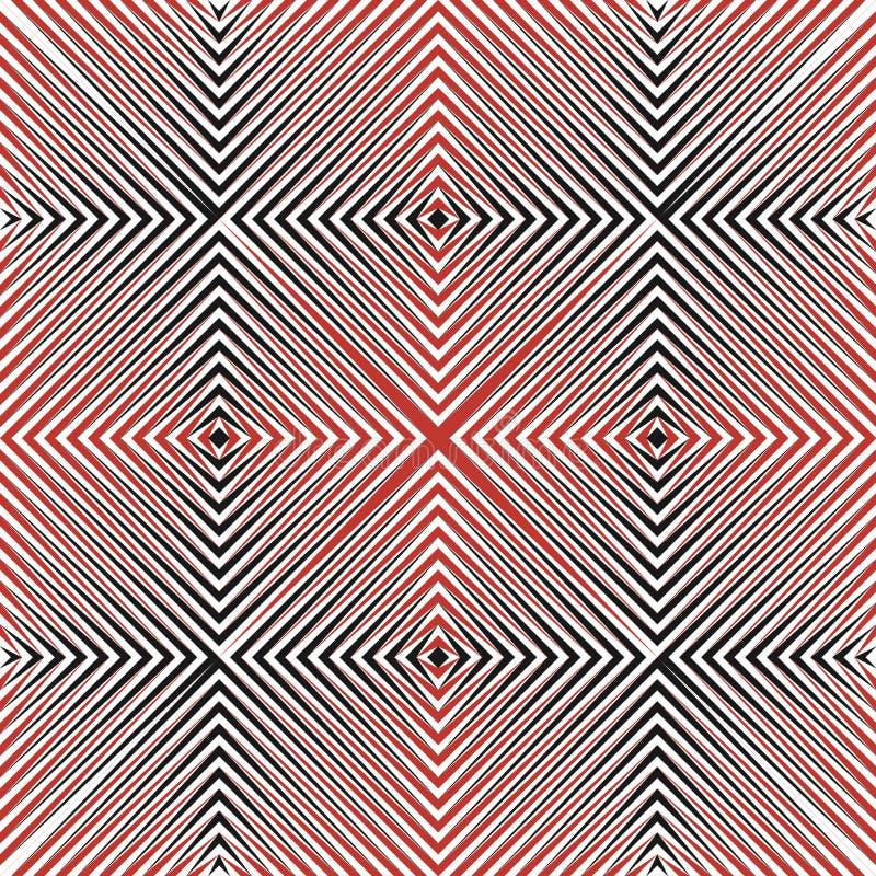 Abstract halftone lijnen naadloos patroon vector illustratie