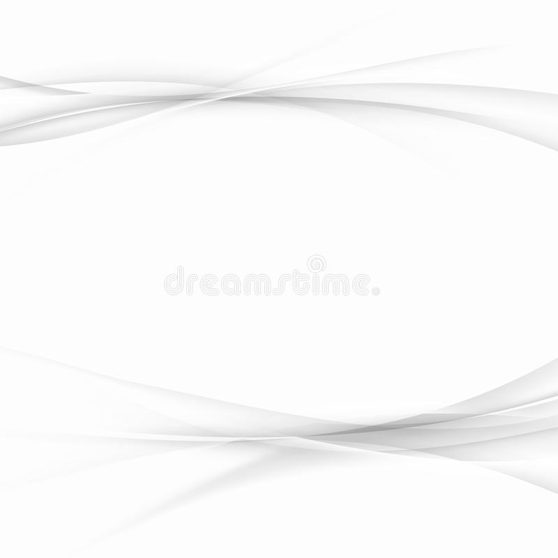 Abstract halftone lines folder background layout. Grey futuristic gradient smoke speed elegant swoosh waves over light grey. Background. Vector illustration stock illustration