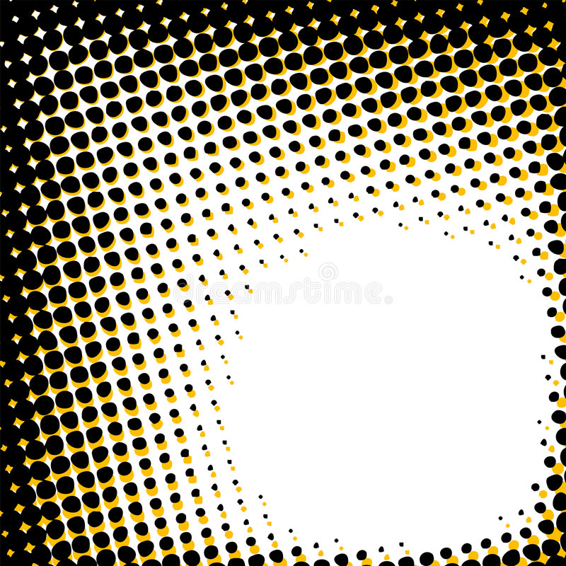 Abstract halftone pattern vector illustration
