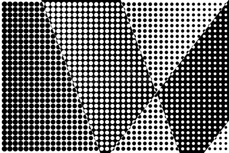 Abstract halftone pattern. Vector halftone dots background for design banners, posters, business projects, pop art texture, covers. Geometric black and white vector illustration