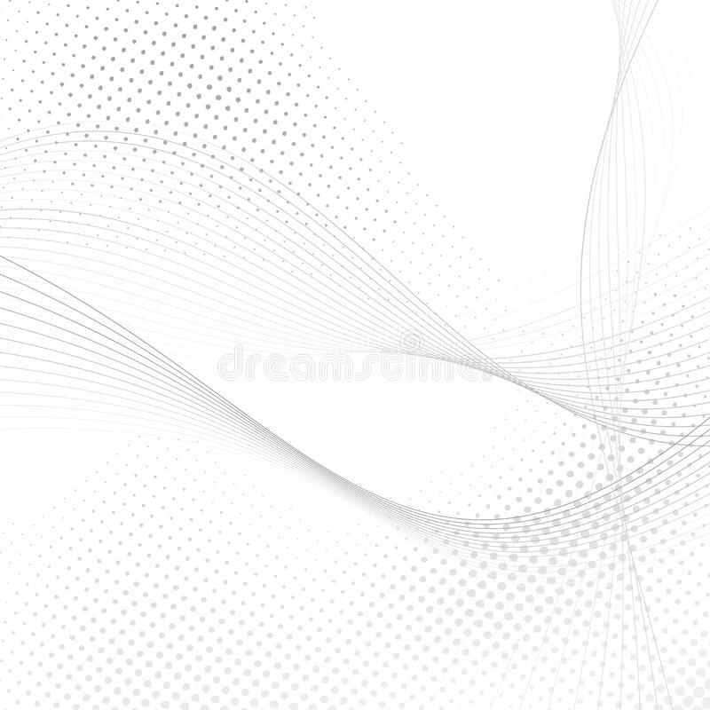 Abstract halftone swoosh lines background. Vector illustration stock illustration