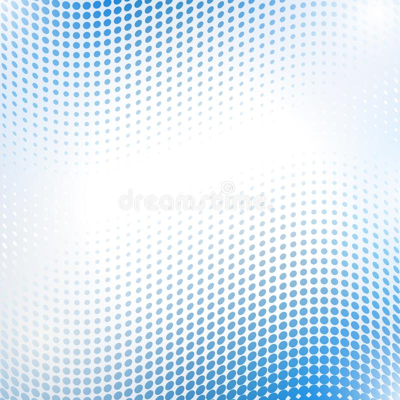 Abstract halftone wave in blue vector illustration