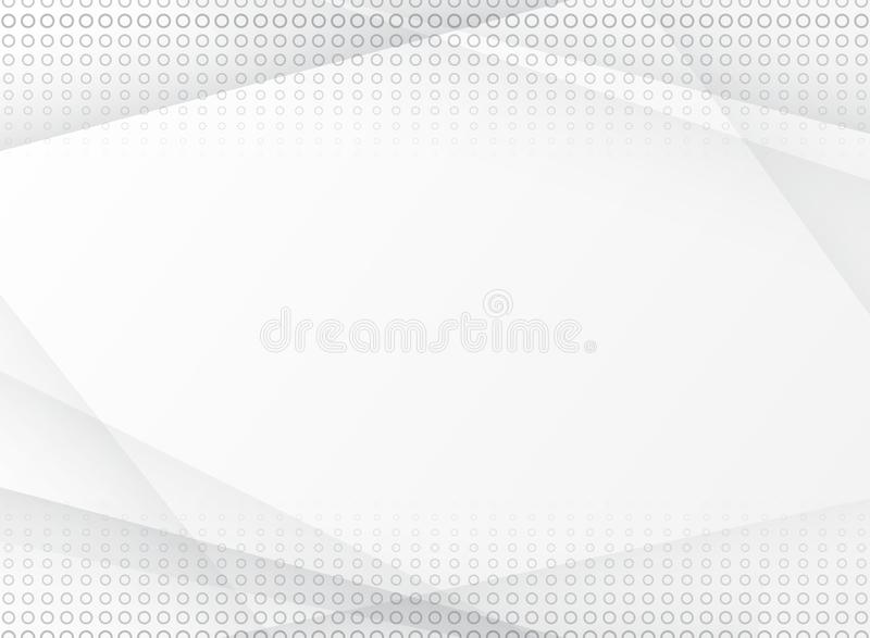 Abstract halftone white and grey background texture. Template an. D layout website, poster, banner, brochure, leaflet, print , ad. Vector illustration royalty free illustration