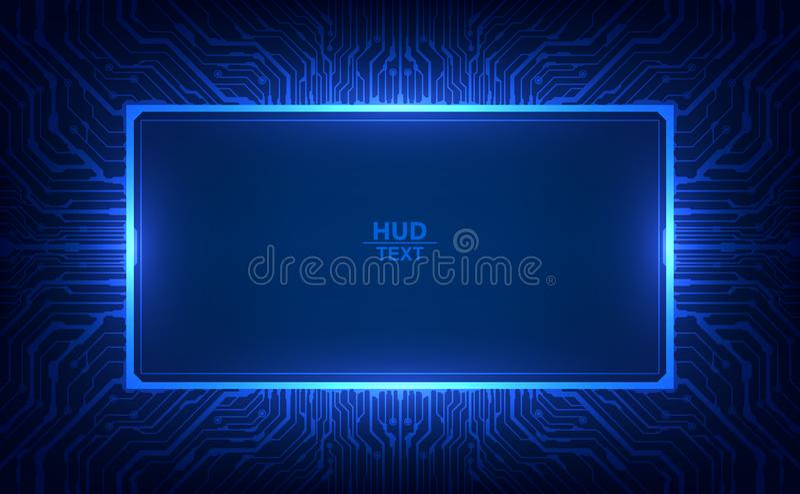 Abstract hallo van het het achtergrond malplaatjeontwerp van technologie futuristisch de lay-out digitaal kringspatroon Vector il vector illustratie