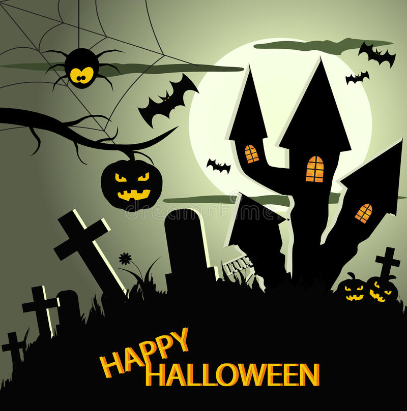 Abstract halloween background eps 10. Abstract halloween green background eps stock illustration