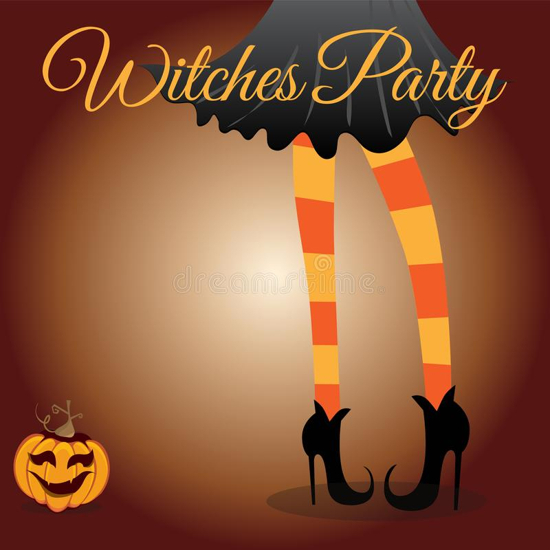 Witch girl - Halloween background royalty free stock images