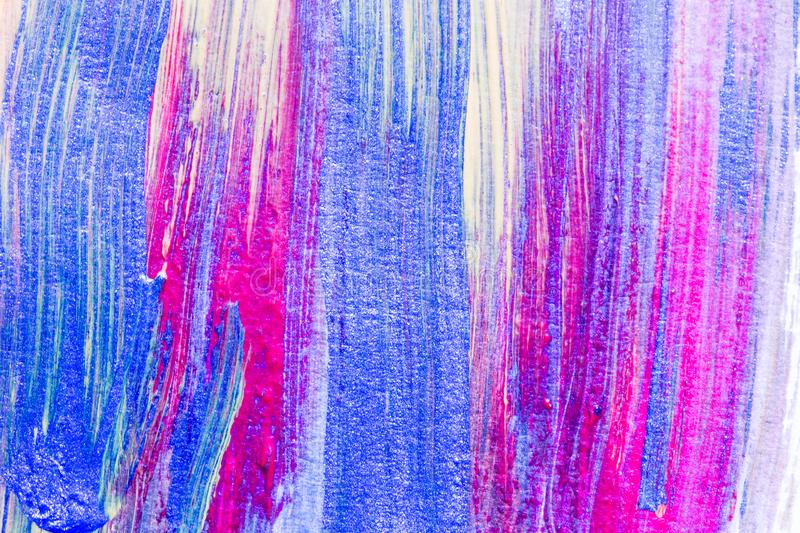 Abstract hand drawn acrylic painting creative art background.Closeup shot of brushstrokes colorful acrylic paint on canvas with b stock photos