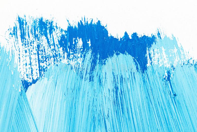 Abstract brushed blue acrylic arts background stock photos