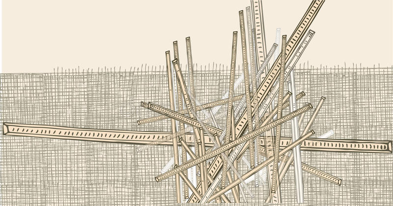 Abstract hand-drawn lines vector illustration