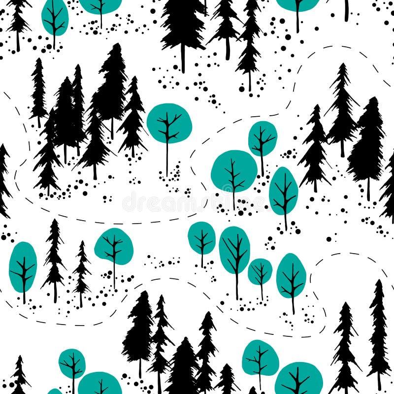 Outdoor map pattern stock illustration