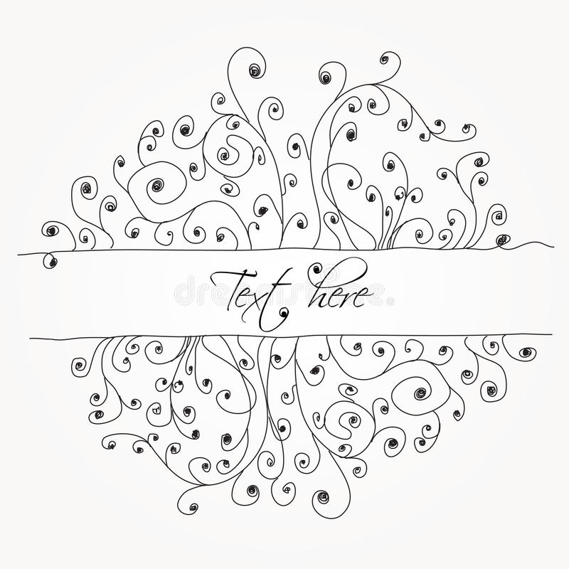 Download Abstract Hand-drawn Swirl Doodles Stock Vector - Image: 15394760