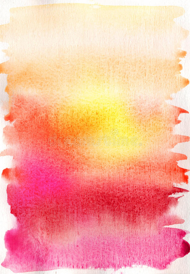 Abstract hand drawn watercolor background stock illustration