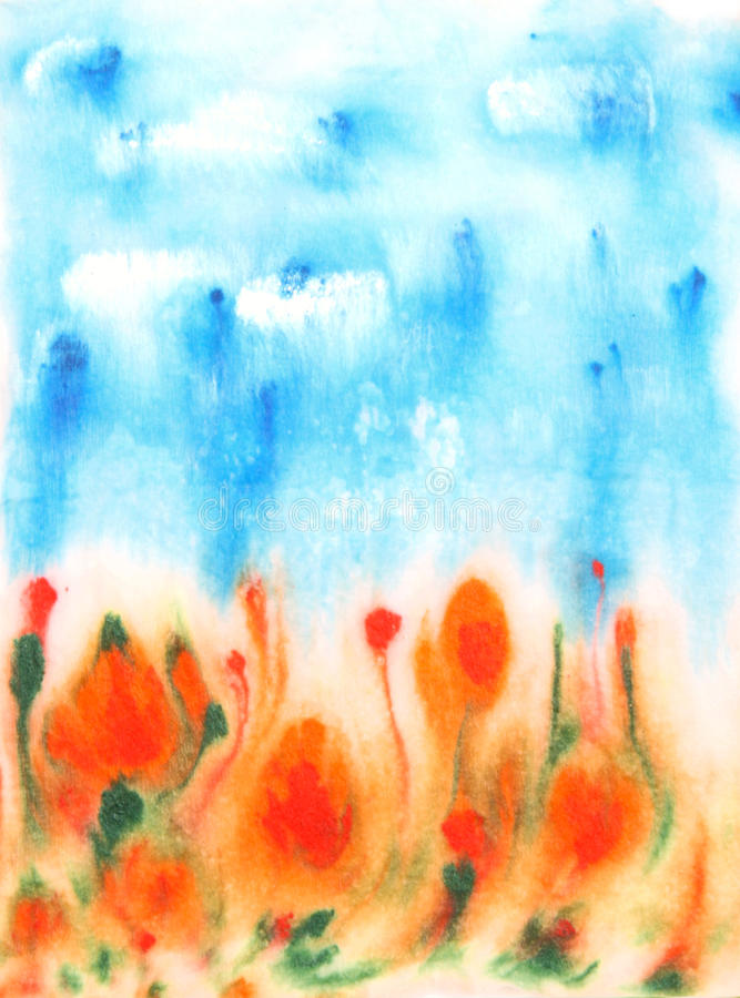 Download Abstract Hand Drawn Watercolor Background Stock Illustration - Image: 26468671