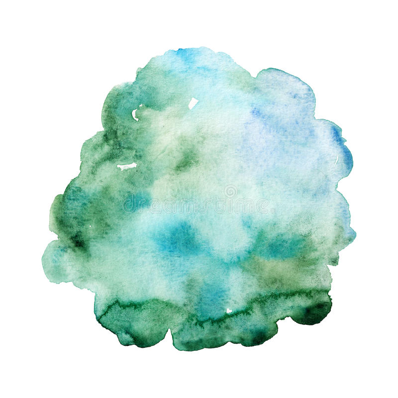Abstract hand drawn watercolor background. royalty free illustration