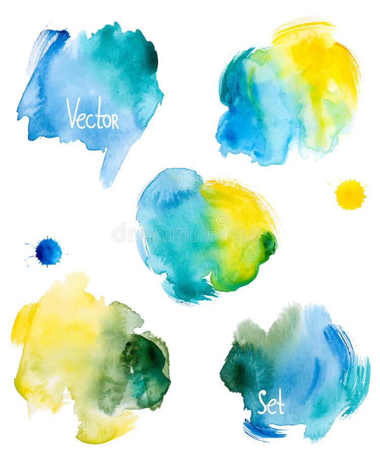 Abstract hand drawn watercolor background,vector illustration stock illustration