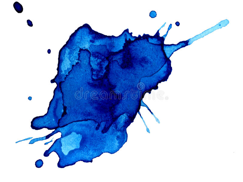 Abstract hand drawn watercolor blot vector illustration