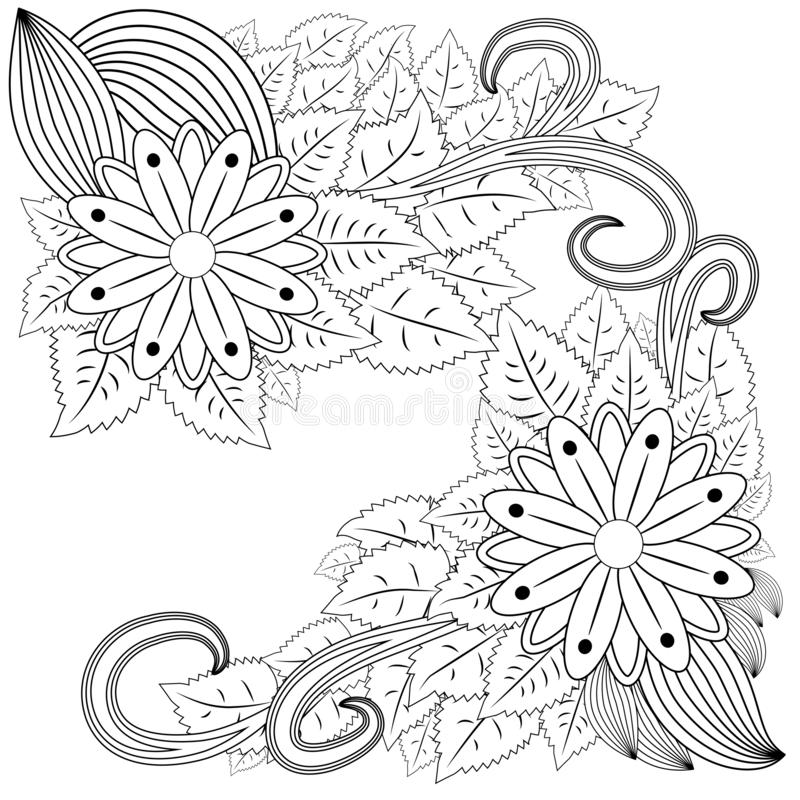 Abstract hand drawn zentangle style frame. Doodle art decorative border.  vector illustration