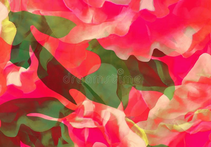 Abstract hand made flowers. Abstract flowers background. hand made design. suitable for various designs and scrapbooking stock image