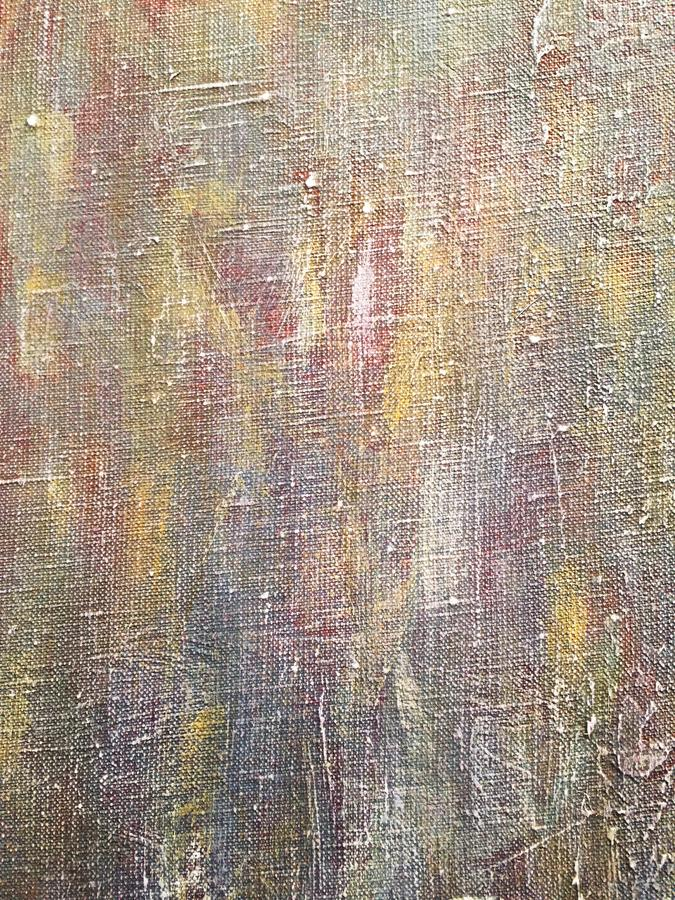 Abstract hand painted acrylic canvas in grey brown colors royalty free stock photos