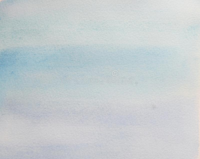 Abstract hand painted blue watercolor splash on white paper background. Blue brush strokes background design  - stock images
