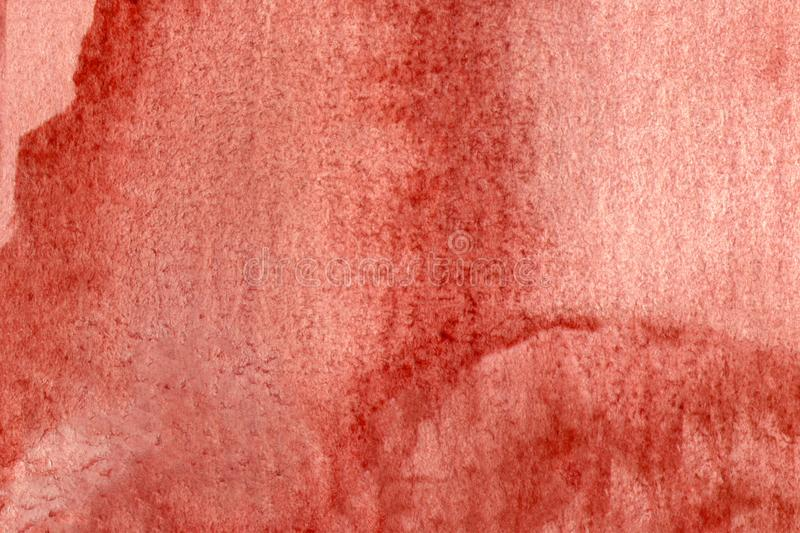 Abstract hand painted on paper red watercolor texture. Design element. For web, decoration, surfaces. stock photos