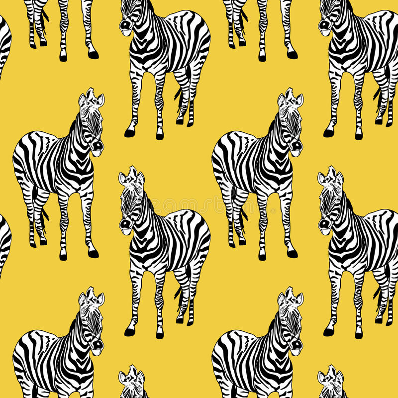 Abstract hand painted seamless animal background. Zebra striped royalty free illustration