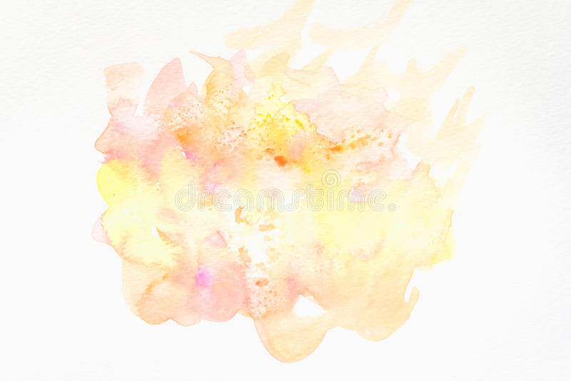 Abstract hand painted watercolor background on paper. texture for creative wallpaper or design artwork stock photos