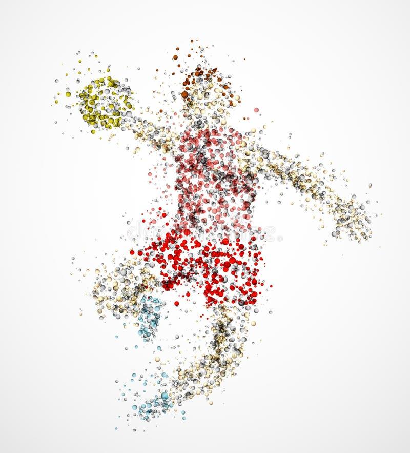 Abstract handball player stock illustration
