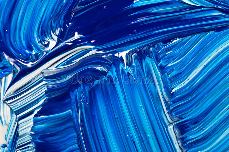 Abstract Handpainted Background in Blue and White royalty free illustration