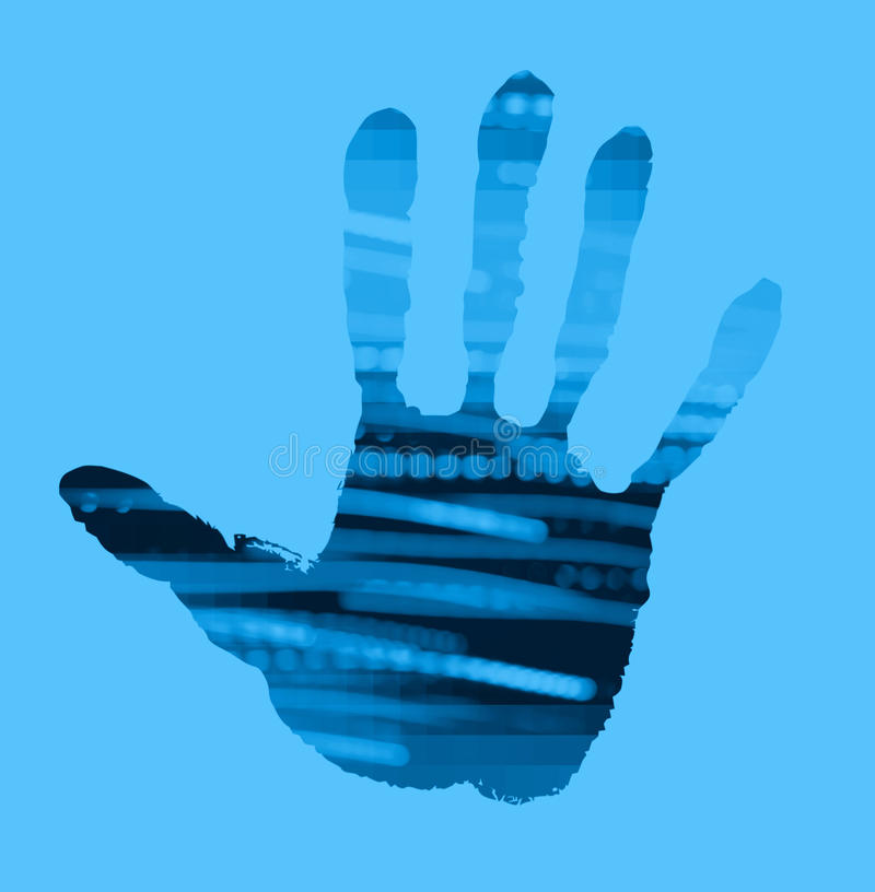 Download Abstract handprint stock photo. Image of hand, palm, poster - 19347266