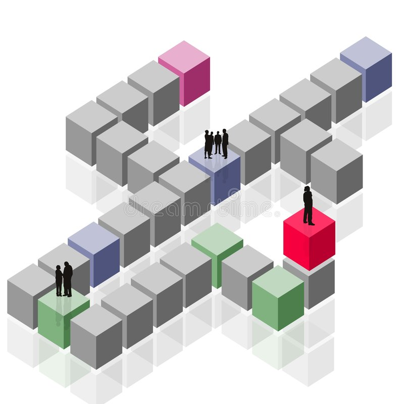 Abstract happening group, team work, customer business vector illustration