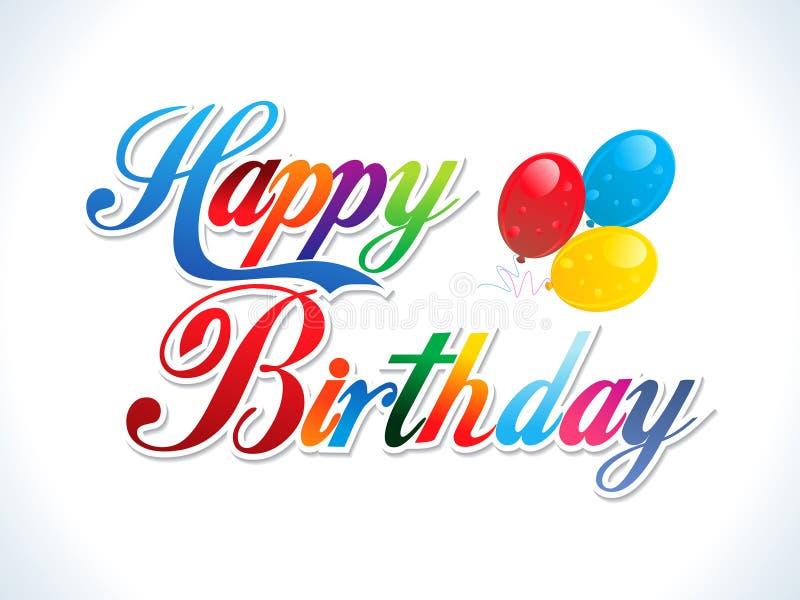Abstract happy birthday background stock illustration