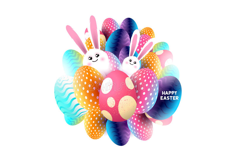 Abstract Happy Easter stock illustration