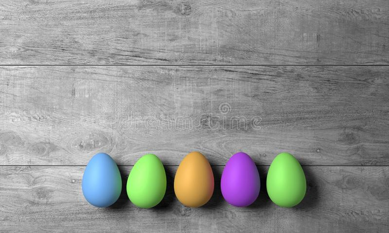 Abstract happy easter with colored egg - Illustration royalty free stock photos