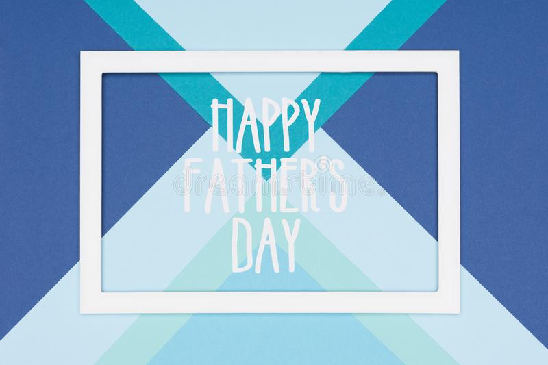 Abstract Happy Fathers Day multicoloured paper texture minimalism background. Minimal Happy Fathers Day greeting card. Abstract Happy Fathers Day multicoloured royalty free stock images