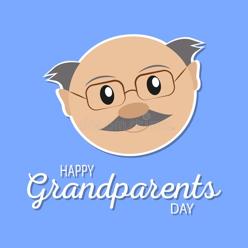 Happy grandparents day. Abstract happy grandparents day background with grandpa royalty free illustration