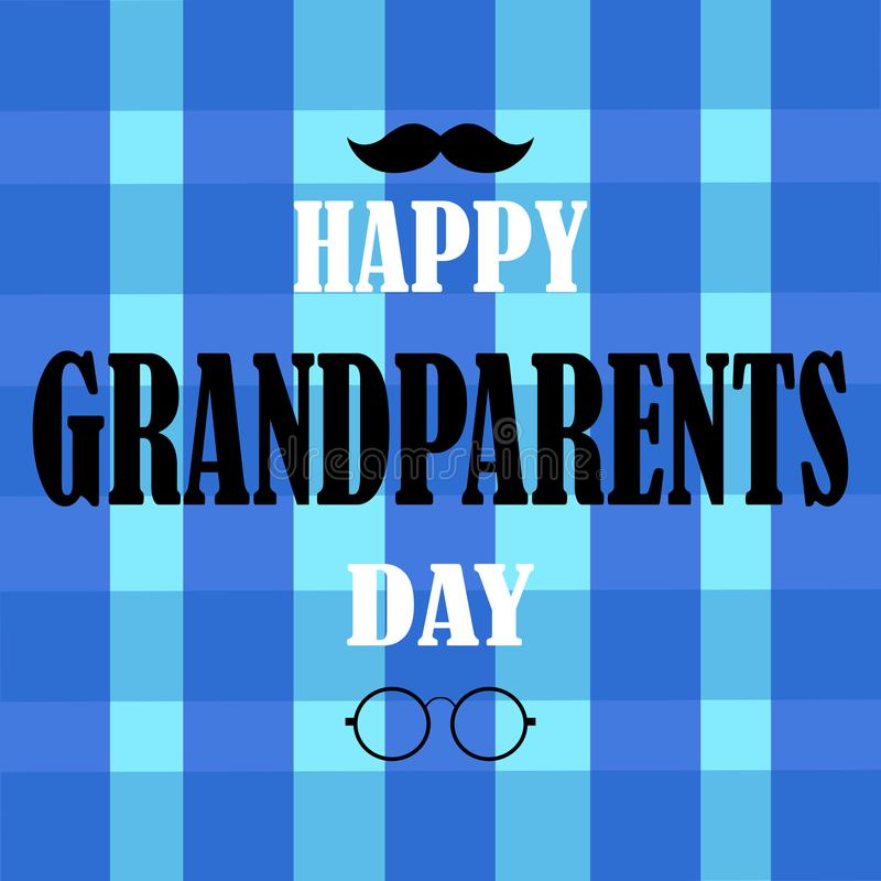 Happy grandparents day royalty free illustration