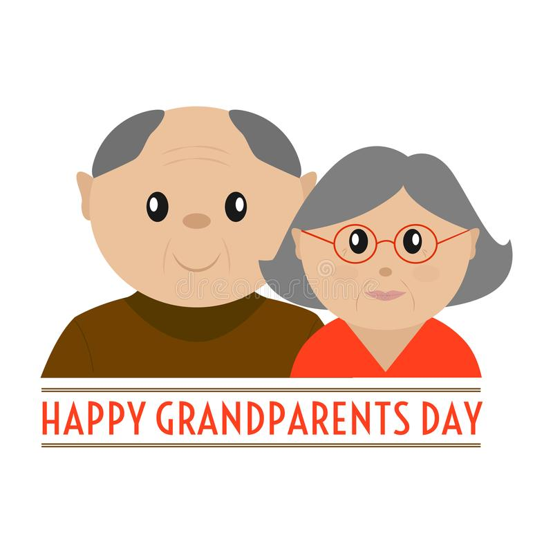 Happy grandparents day. Abstract happy grandparents day background with some special objects vector illustration