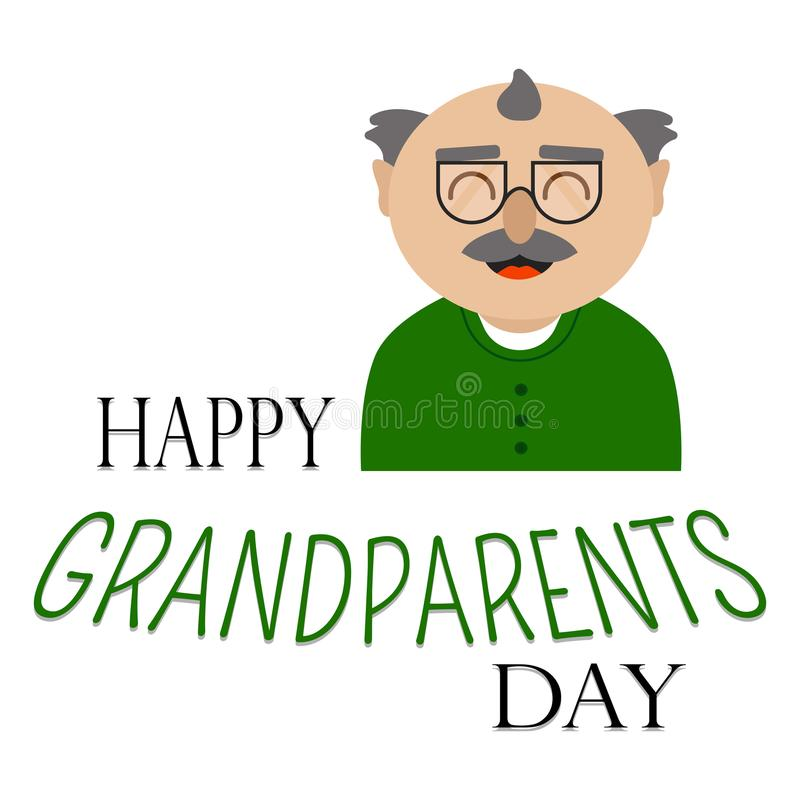 Happy grandparents day. Abstract happy grandparents day background with some special objects royalty free illustration