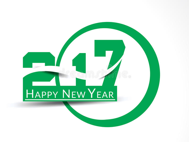 Abstract happy new year 2017 text style vector illustration