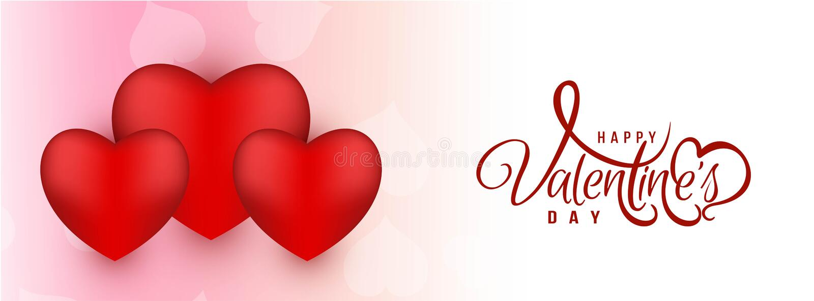 Abstract Happy Valentine`s day banner. Vector vector illustration