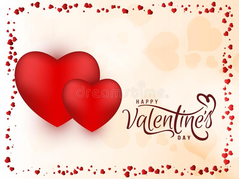 Abstract Happy Valentine`s day beautiful background. Vector stock illustration