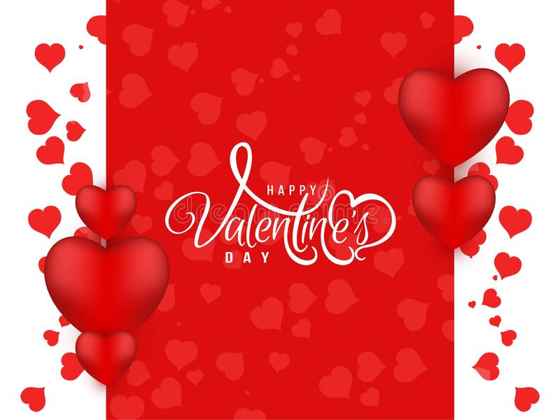 Abstract Happy Valentine`s day beautiful background. Vector royalty free illustration