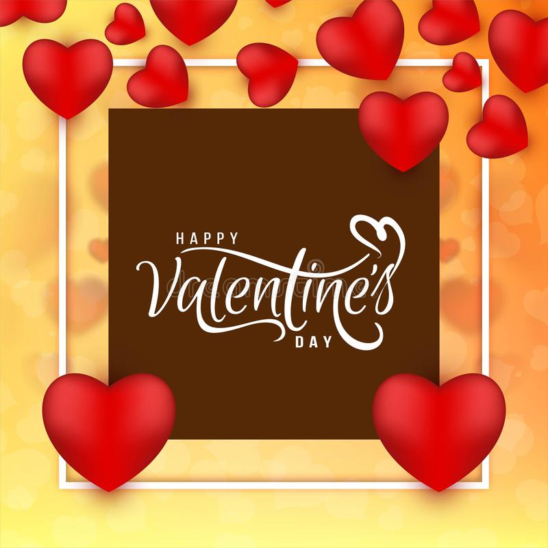 Abstract Happy Valentine`s day love background. Vector stock illustration