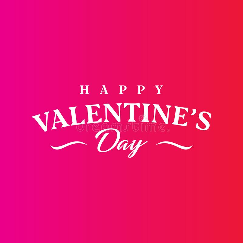 Abstract Happy Valentine`s Day Vector Template. Happy Valentine`s Day Vector Template vector illustration
